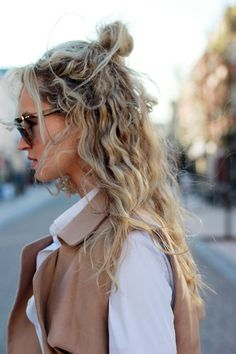 Half bun hairstyle (2)