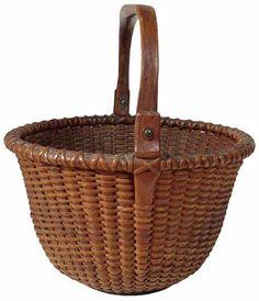 Old Baskets, Vintage Baskets, Wicker Baskets, Bountiful Baskets, Nantucket Baskets, Decorating Supplies, Basket Ideas, Decoration, Color Splash