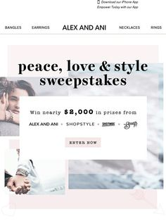 Win almost $2,000 in prizes – enter today! - Alex And Ani