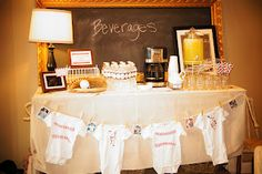 A Vintage Baseball-Themed Baby Shower