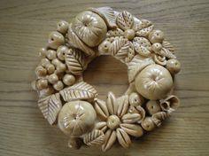 Salt Dough Crafts, Salt Dough Ornaments, Hobbies And Crafts, Diy And Crafts, Arts And Crafts, Paper Clay, Clay Art, Christmas Time, Christmas Wreaths