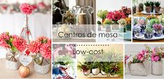 Ideas para centros de mesa low-cost