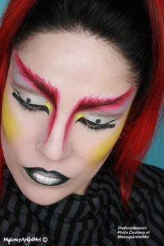 """""""Warrior"""" by MakeupArtistMe! Siren, Lemon Drop, Iced Gold pigments and Neon Yellow glitter. TBN's Luminous and Bronzing powder."""