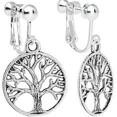 Body Candy Tree of Life Clip On Dangle Earrings >>> Click on the image for additional details. (This is an affiliate link) #NiceJewelry