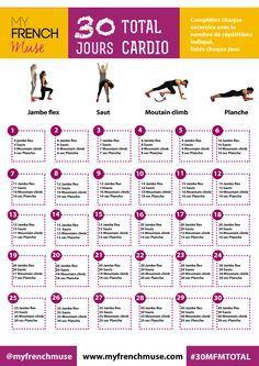 La fiche d'exercice de 30 jours pour un corps tonique !