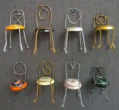 Interesting wire wrapped chairs. Craft ideas from LC.Pandahall.com              #pandahall