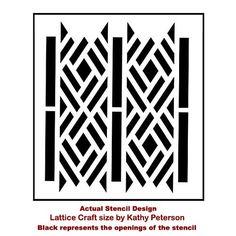 Cutting Edge Stencils - Lattice Craft Stencil by Kathy Peterson