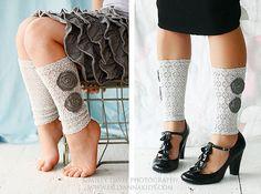 lace legwarmers