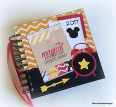 A must have for your next Disney vacation. 2017 PERSONALIZED  Disney Autograph Book & scrapbook too. OOAK only. Grab it before its' gone~by secondsisterdesigns on Etsy.