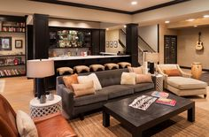 Comfortable Cottage Design Basement