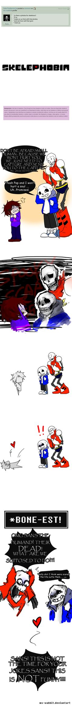 sans and papyrus - skelephobia by ms-wabbit on DeviantArt