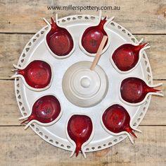 Australian handmade ceramics and Judaica - Rosh Hashanah Plate ראש השנה by…