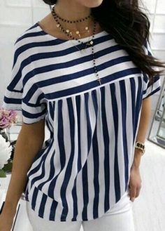 Blouse Styles, Blouse Designs, Mode Outfits, Casual Outfits, Modest Fashion, Fashion Dresses, Sewing Blouses, Trendy Tops, Diy Clothes