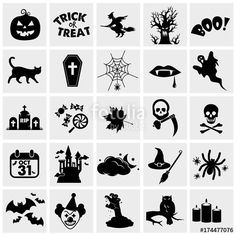 autumn, bat, black, candle, candy, cartoon, castle, cat, celebration, cemetery, coffin, collection, creepy, decoration, design, fear, ghost, grave, grim, halloween, hat, haunted, holiday, horror, house, icon, night, october, party, pumpkin, rip, scary, set, sign, silhouette, skull, spider, spiderweb, spooky, symbol, tombstone, treat, tree, trick, vector, web, witch, zombie, owl, illustration