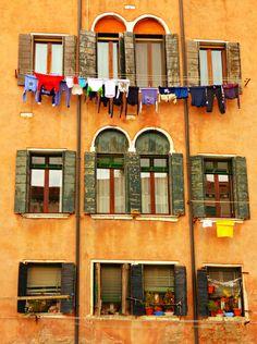 Laundry Day in Venice - Jon Lander Laundry Lines, Dublin, Netherlands, Venice, Amsterdam, Art Gallery, October, England, Europe