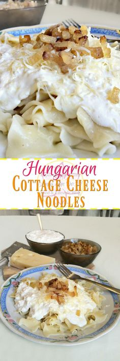 Hungarian Cottage Cheese Noodles - Anna Can Do It!