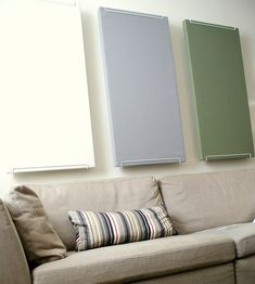 DIY sound dampening panels; http://www.ehow.com/how_7519911_homemade-sound-dampening-panels.html