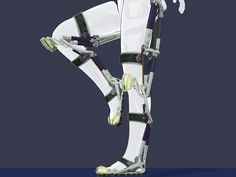 Exoskeleton on animated rigged mannequin Learn Robotics, Robotics Engineering, Exoskeleton Suit, 3d Model Character, 3d Projects, 3d Animation, 3d Printing, Geek Stuff, Medical Technology