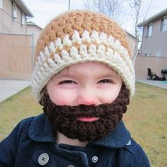Bearded Beanie on a Baby. Now say that 5 times fast ;)