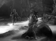 from the Creature of the Black Lagoon ... Richard Carlson protecting Julie Adams.