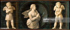 Fine art : Baglioni Retable . Theological Virtues . Hope, by Raffaello Sanzio a.k.a Raphael (1483-1520). Oil on wood, 16x44 cm, 1507. Pinacoteca, Vatican Museums, Vatican State