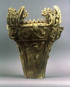 Jomon Pottery, Japan, 12000-1,5000 BPE, coil built earthenware