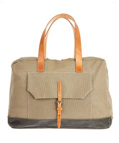 Khaki Dave Donkey Waxed Canvas Bag