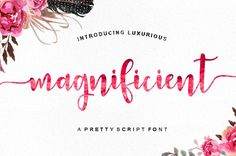 Magnificient Script by Young Type on @creativemarket
