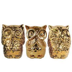 Found it at Joss & Main - 3-Piece Owl Decor Set