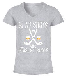 b28fe85ab Slap Shot And Whiskey Shots Funny Ice Hockey T-shirt . Special Offer,