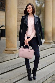 Paulina from Poland, mixes tough and soft feminine brilliantly. Love her style.