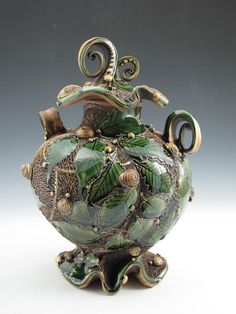 Carol Long | Caterpillar Lidded Jar