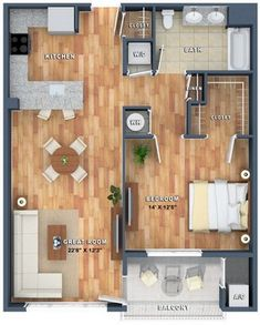 Mt. Arlington NJ | One and Two Bedroom Plans | Woodmont http://bit.ly/1ji1nr3