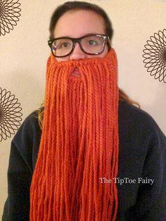 How to make a Yarn Beard | The TipToe Fairy - An easy DIY tutorial to make a fun yard beard! #tutorial #DIY #halloween