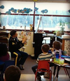Kindergarten and first grade students, from West Allegheny School District's Donaldson Elementary School, were visited by soldiers from the U.S. Army Reserves 316th Sustainment Command (Expeditionary). The 316th ESC is supporting the program with a week of activities by provide examples to encourage reading.