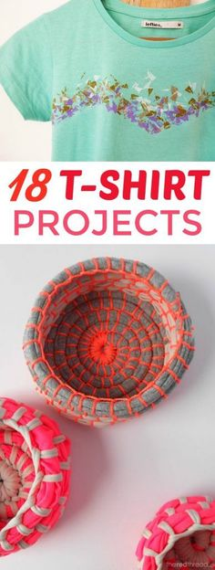 You know those old t-shirts that you can't really wear out of the  house anymore? Make these 18 T-Shirt Projects! With a little bit of craftiness  you can turn them into something new and awesome! #diy #crafts #teencrafts #projects  #diycrafts #diyprojects #fundiys #funprojects #diyideas #craftprojects  #diyprojectidea #teencraftidea Christmas Gifts For Teenagers, Cool Gifts For Teens, Birthday Gifts For Teens, Diy For Teens, Diy Projects For Teens, Crafts For Teens, Fun Projects, Diy Lace Trim, Braided T Shirts