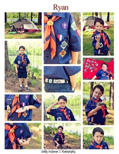 cub scout photo session - cute idea I need to do this with Connor