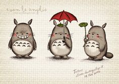 It's TOTORO!! How adorable is he??