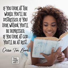 Corrie Ten Boom Quote - #christianity #christian #bible #faith #jesuschrist #God #love #corrietenboom #christianencouragement #truth #biblestudy