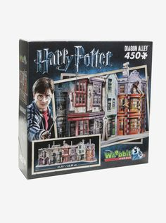 Going through a brick wall or using Floo Powder to access Diagon Alley  isn't necessary anymore. This 450-piece 3D puzzle gives muggles full  access to a hidden side of London. Discover a unique range of mythical  shops where young wizards find their school supplies and more. Whether  it's for a wand at Ollivanders, books at Flourish & Blotts or simply  for fun at Weasleys' Wizard Wheezes, you're sure to find what you're  looking for! ...