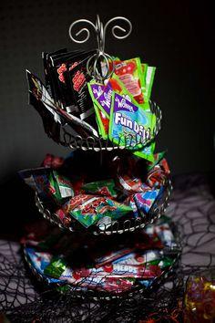 Halloween wedding candy buffet