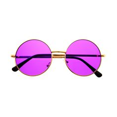Inspired by hippie indie fashion circle round sunglasses feature colorful metal frame. Great selection of colors! Sunglasses dimensions: Frame Height: 50mm Frame Width: 135mm