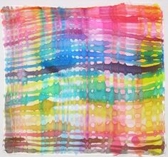 Hand Painted Silk Color Web Hankie by TheBeadedBranch on Etsy, $12.50