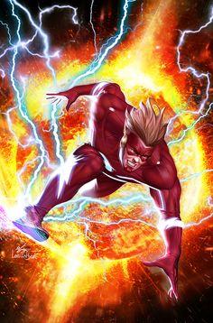 [Cover] flash forward 5 variant by in hyuk lee (jan Marvel Comics, Arte Dc Comics, Archie Comics, Comic Book Publishers, Dc Comic Books, Comic Art, Kid Flash, Flash Art, Dc Speedsters