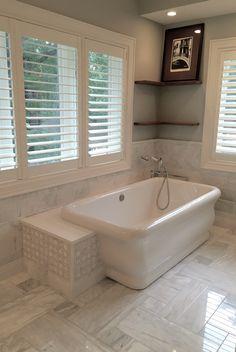 Hydrosystems Michelangelo Freestanding Bathtub Jeffrey Court Chapter 16 Park Place White Carrara Tile