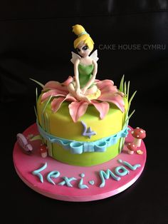 4th Birthday Cake - #Tinker bell Cake