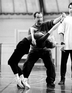 Maurice Béjart en répétition à l'Opéra Garnier