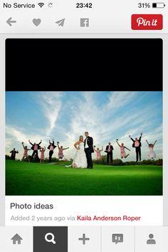 Love a fun aspect of wedding photos