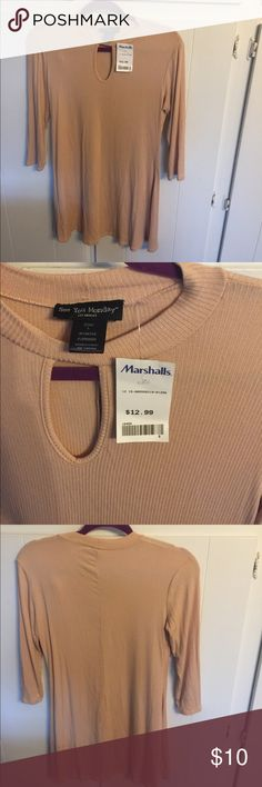 """Casual tunic! NWT! Size L. NWT! Rose-beige color. Keyhole opening in front. Size L. It to pit measurement is 16.5"""", length is 30.5"""". Cozy with some stretch and versatile! I have matching ballet flats, brand new, in another listing. See You Monday Tops Tunics"""
