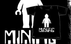"""Minifig Man with Slogan by Customize My Minifig"" Kids Clothes by ChilleeW 